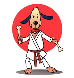 Karate Dog vector image