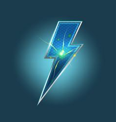 lightning spark bolt icon symbol vector image