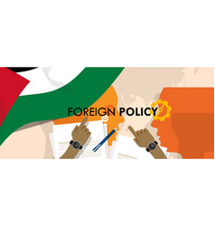 palestine foreign policy diplomacy international vector image vector image