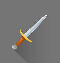 flat style medieval battle dagger icon vector image