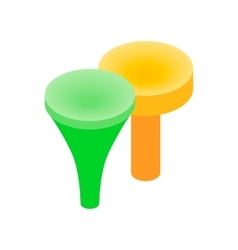 Golf tees isometric 3d icon vector image vector image