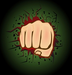 Hand punch design vector image vector image