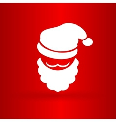Nice face of santa claus vector image vector image