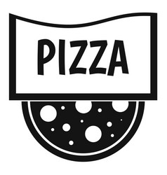 pizza badge or signboard icon simple style vector image
