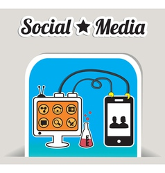 Abstract concept of social media with bookmark vector image