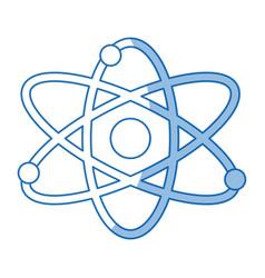 atom molecule particle structure biology shadow vector image