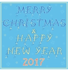 Christmas and new year festive card vector image vector image