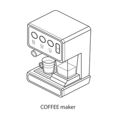 coffee machine with cup isometric vector image vector image