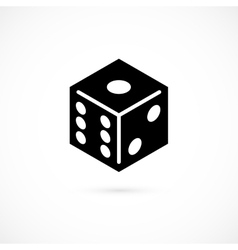 Dice icon isolated on white background vector image vector image
