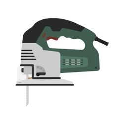 Electric green color carpentry jig saw tool vector image