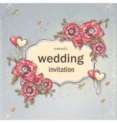 Image festive wedding background for your text vector image