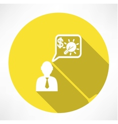 man with financial idea icon vector image