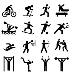 sports fitness activity and exercise icons vector image vector image
