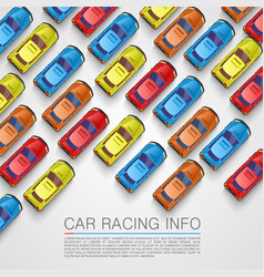 traffic jam on the road color background car vector image