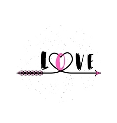 typography word sign LOVE vector image