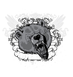 vintage t-shirt design with animal vector image vector image
