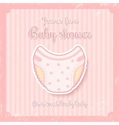 girl baby shower vector image vector image