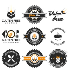 gluten free label set vector image