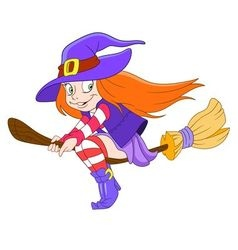 pretty young witch vector image vector image