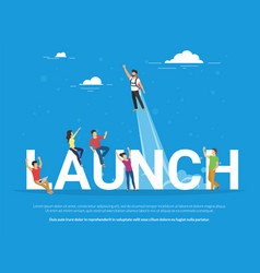startup launch concept of business vector image vector image