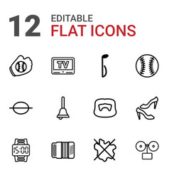 12 classic icons vector