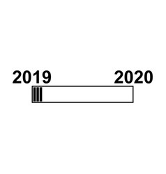 2019 loading icon 2019 year vector image