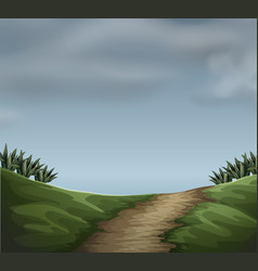 A cloudy natur scene vector