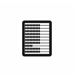 Abacus icon in simple style vector
