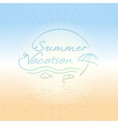 Abstract background Summer vacation vector image