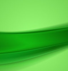 Abstract green wavy background vector image
