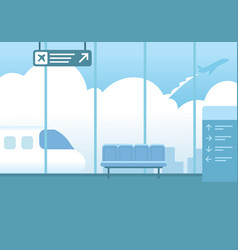 airport interior waiting hall departure vector image