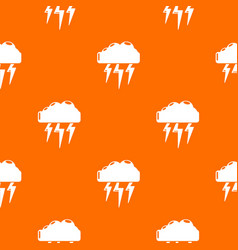 Atmospheric electricity pattern orange vector