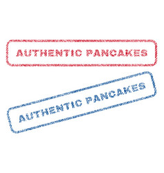authentic pancakes textile stamps vector image