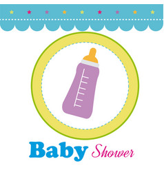 Baby shower design over white background vector