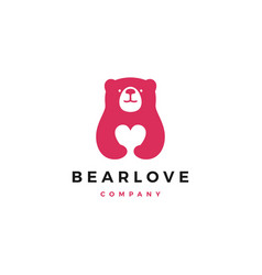 Bear love logo icon vector