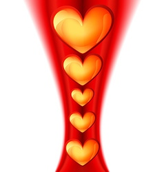beautiful heart design vector image