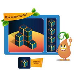 Blocks game educational vector