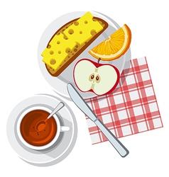 breakfast on table vector image