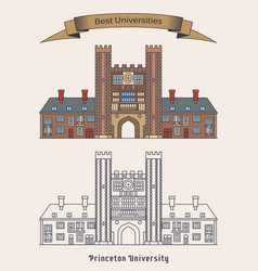 Building of princeton university education vector