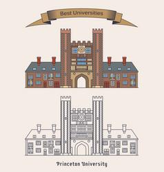 Building princeton university education vector
