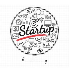 Business start up icon on white vector