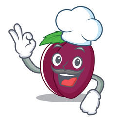 chef plum character cartoon style vector image