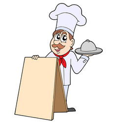 chef with table vector image