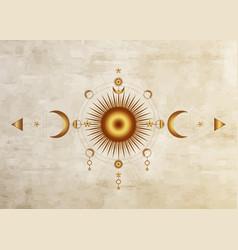 Circle a moon phase triple goddess pagan wicca vector