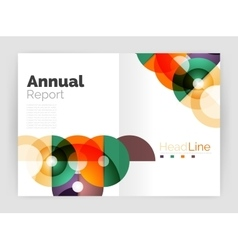 Circle abstract background business annual report vector