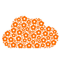 cloud composition of flower icons vector image