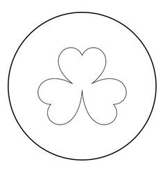 clover the black color icon in circle or round vector image