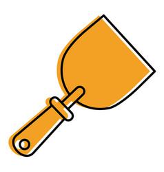 construction tool spatula handle icon vector image