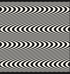Curved striped wavy lines seamless pattern vector