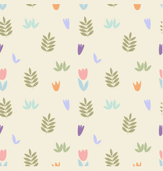 Delicate floral pattern seamless background vector